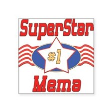 "SUPERSTARmema.png Square Sticker 3"" x 3"""
