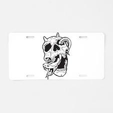 Skull and Snake Aluminum License Plate