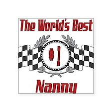 "Racing1NANNY.png Square Sticker 3"" x 3"""