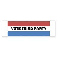 Vote Third Party Bumper Sticker