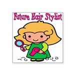 FunnyNewfuturehairstylist copy.png Square Sticker