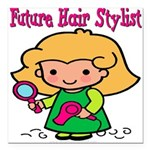 FunnyNewfuturehairstylist copy.png Square Car Magn