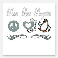 "Peace love poker copy.png Square Car Magnet 3"" x 3"