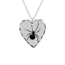 Spider in a web Necklace