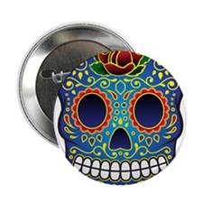 "Sugar Skull 2.25"" Button"