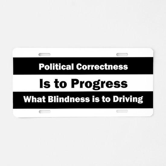 Is it really progress? Aluminum License Plate