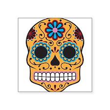 """Sugar Skull Square Sticker 3"""" x 3"""""""