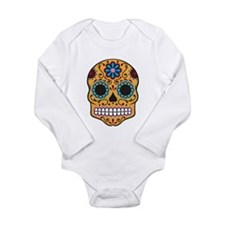 Sugar Skull Long Sleeve Infant Bodysuit