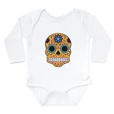Sugar Skull Long Sleeve Infant Bodysuit