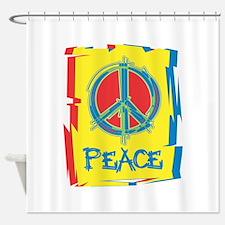 Vintage Peace Shower Curtain