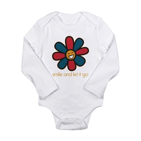 Smile and Let It Go Long Sleeve Infant Bodysuit