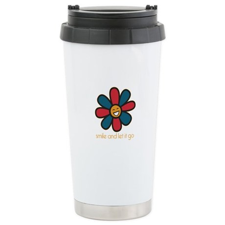 Smile and Let It Go Stainless Steel Travel Mug