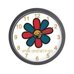 Smile and Let It Go Wall Clock