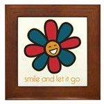 Smile and Let It Go Framed Tile