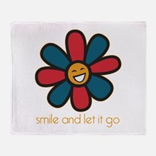 Smile and Let It Go Throw Blanket