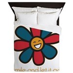 Smile and Let It Go Queen Duvet