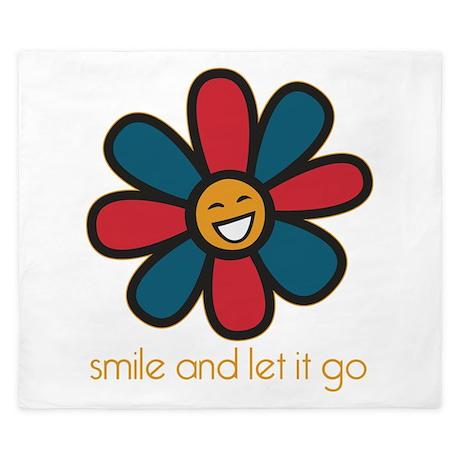 Smile and Let It Go King Duvet
