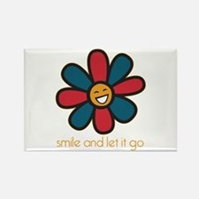 Smile and Let It Go Rectangle Magnet