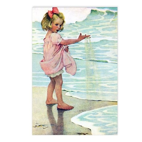 Child at the beach Postcards (Package of 8)