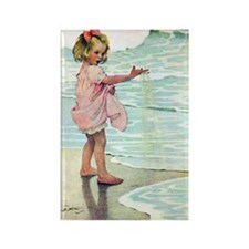 Child at the beach Rectangle Magnet