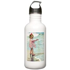 Child at the beach Water Bottle
