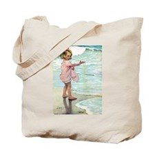 Child at the beach Tote Bag