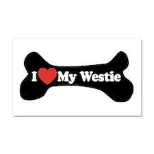 I Love My Westie - Dog Bone Car Magnet 20 x 12