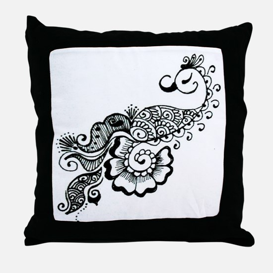henna Throw Pillow