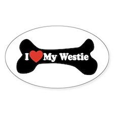 I Love My Westie - Dog Bone Decal