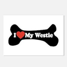 I Love My Westie - Dog Bone Postcards (Package of