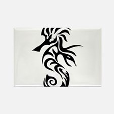 Tribal Seahorse Rectangle Magnet