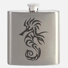 Tribal Seahorse Flask