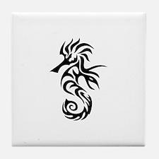 Tribal Seahorse Tile Coaster