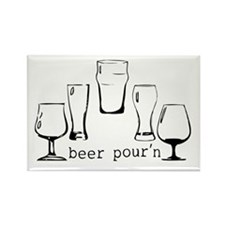 beer pourn Rectangle Magnet