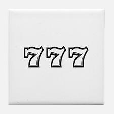 Triple 7s Tile Coaster
