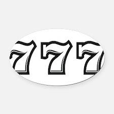 Triple 7s Oval Car Magnet
