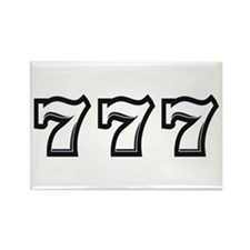 Triple 7s Rectangle Magnet