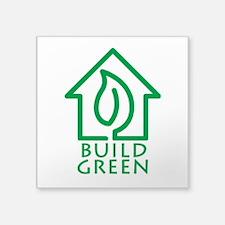 """Build Green Square Sticker 3"""" x 3"""""""
