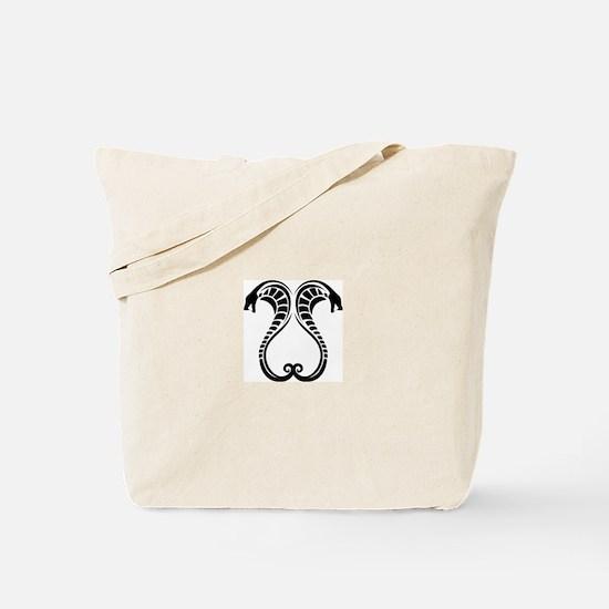 Twin Cobras Tote Bag