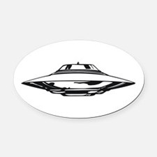 UFO Oval Car Magnet