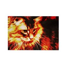 Stylized Maine Coon Rectangle Magnet