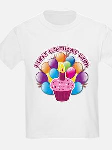 1st Birthday Girl T-Shirt