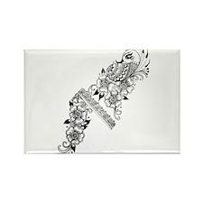 henna Rectangle Magnet