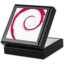 Debian swirl Keepsake Box