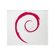Debian swirl Throw Blanket