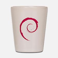 Debian swirl Shot Glass