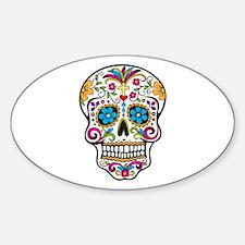 Sugar Skull Sticker (Oval)