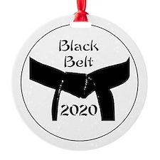 Martial Arts Black Belt 2015 Round Ornament