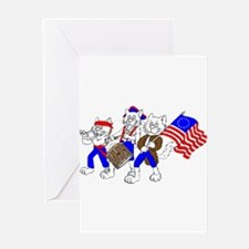 Spirit of '76 CATS Greeting Card