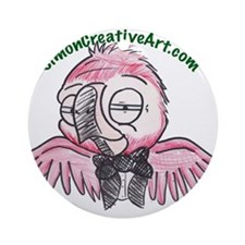 well dressed parrot Ornament (Round)